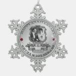 Aniversario ID195 del vintage 40.o Adorno De Peltre En Forma De Copo De Nieve