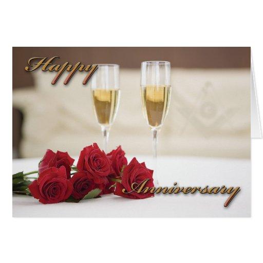 Aniversario masónico tarjeta de felicitación