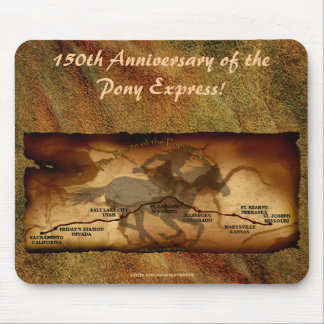 Aniversario Mousepad de la ruta del mapa de Pony