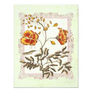 Aniversario o cumpleaños de oro de boda de invitación 10,8 x 13,9 cm
