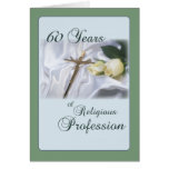 Aniversario para la monja, profesión religiosa de  tarjetas