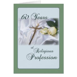 Aniversario para la monja, profesión religiosa de tarjeta de felicitación