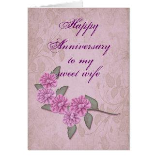 Aniversario para la tarjeta de la esposa