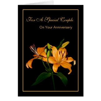 Aniversario para un par especial tarjeta de felicitación