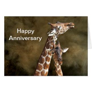 Aniversario personalizado Snuggle Ca de los pares Tarjeta De Felicitación