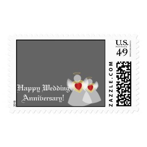 Aniversario-Personalizar de plata feliz Franqueo