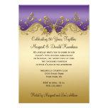 Aniversario púrpura de las mariposas 50.as del oro invitacion personal