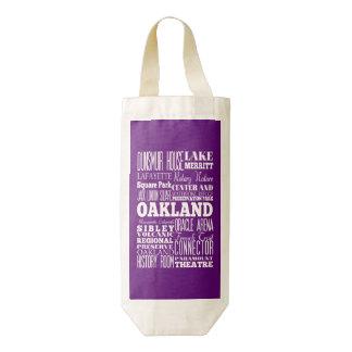 Aniversario regalo de Oakland única, California Bolsa Para Botella De Vino Zazzle HEART