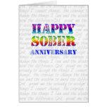 Aniversario sobrio feliz tarjeta