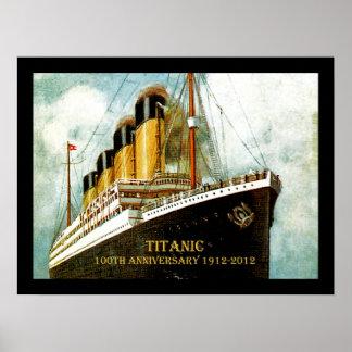 Aniversario titánico del RMS 100o Poster