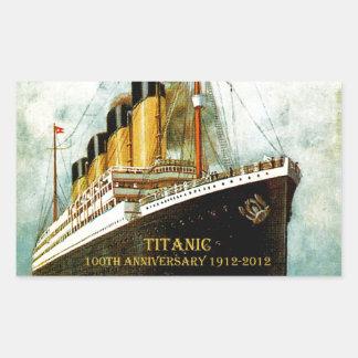 Aniversario titánico del RMS 100o Pegatina Rectangular