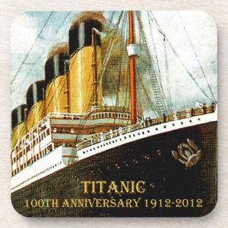 Aniversario titánico del RMS 100o Posavasos De Bebidas