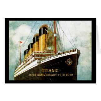 Aniversario titánico del RMS 100o Tarjeta