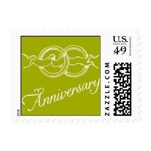 - Aniversario - verde encerrado Sellos
