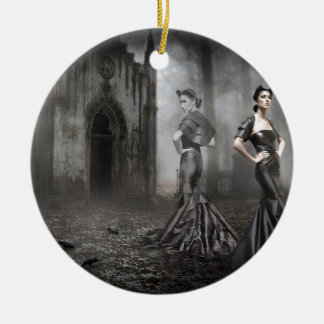 Anixias Ghost of twin sister Ceramic Ornament