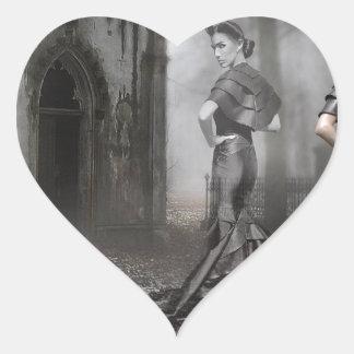 Anixias Ghost of twin sister Heart Sticker