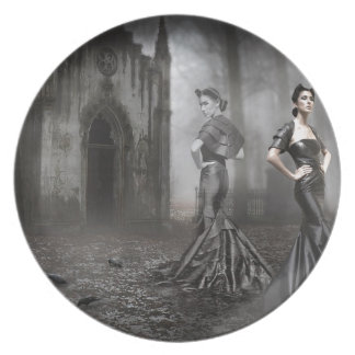 Anixias Ghost of twin sister Melamine Plate