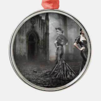 Anixias Ghost of twin sister Metal Ornament