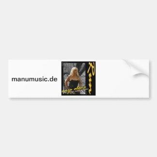 Anja alone feat. Manolo Fernandez - run Bumper Sticker