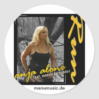 Anja alone feat. Manolo Fernandez - run Classic Round Sticker