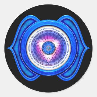 Anja o tercer ojo el 6to Chakra Pegatina Redonda