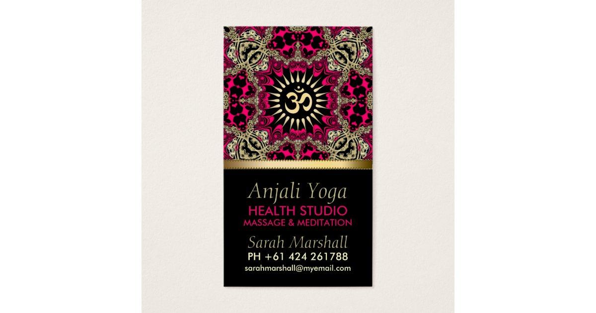 Anjali Yoga Eastern New Age Business Card   Zazzle.com