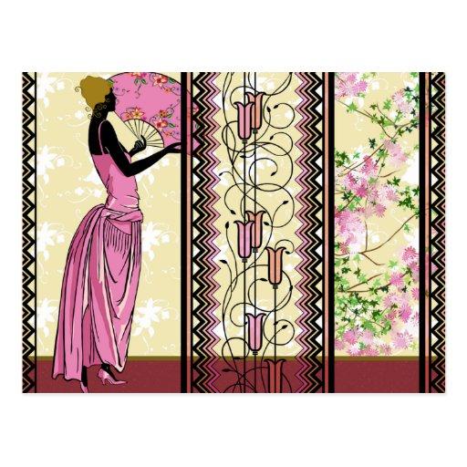 Anjanette en el rosa y el oro - postales