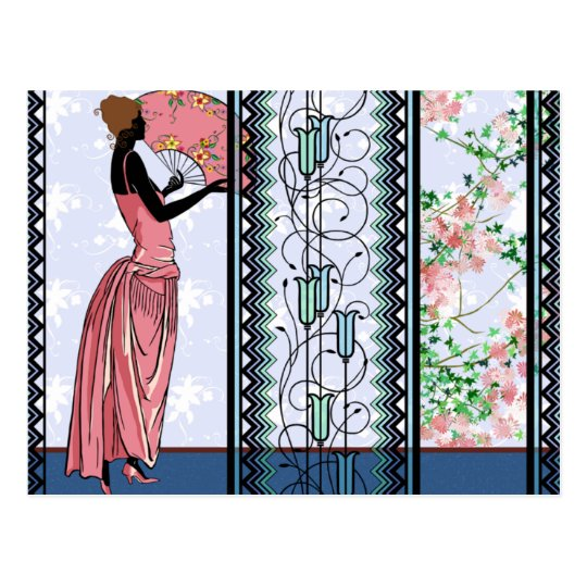 Anjanette in Peach & Blue - Postcards