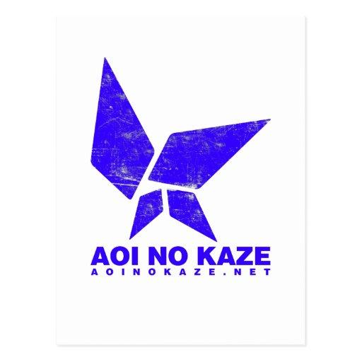 ANK Grunge Bright Blue Postcard