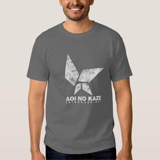 ANK Grunge White on Dark Grey T-Shirt