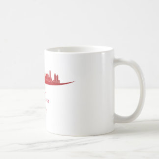 Ankara skyline in network classic white coffee mug