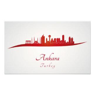 Ankara skyline in red fotografías