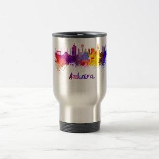 Ankara skyline in watercolor 15 oz stainless steel travel mug