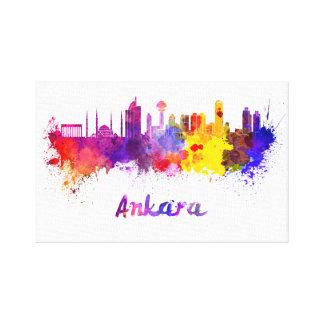 Ankara skyline in watercolor canvas print