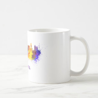 Ankara skyline in watercolor classic white coffee mug