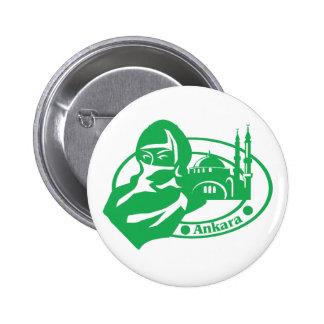 Ankara Stamp 2 Inch Round Button