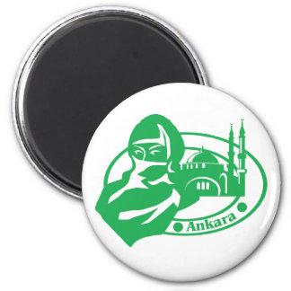 Ankara Stamp 2 Inch Round Magnet