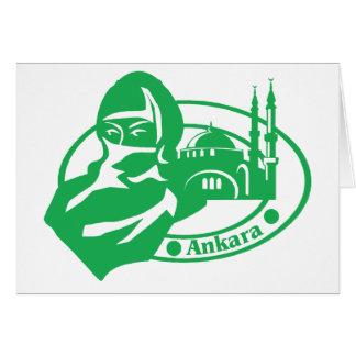 Ankara Stamp Greeting Card