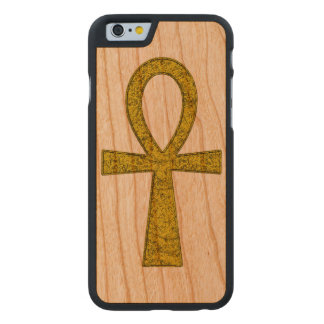 Ankh amarillo funda de iPhone 6 carved® slim de cerezo