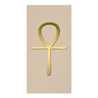 Ankh cross Egyptian symbol Personalized Photo Card