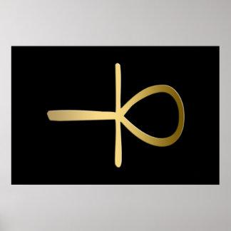Ankh cross Egyptian symbol Poster