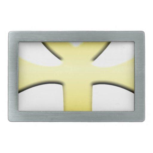 Ankh de oro hebilla de cinturon rectangular
