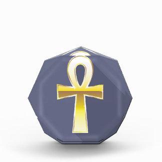 Ankh Egyptian Cross Golden Acrylic Award