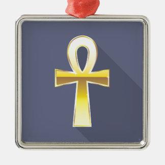 Ankh Egyptian Cross Golden Metal Ornament