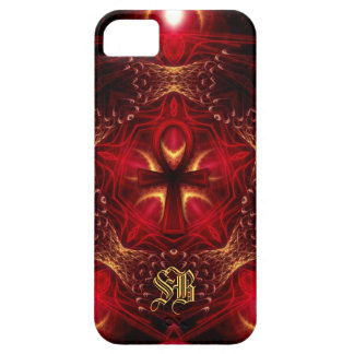 Ankh Energy Red+Gold Custom Monogram iPhone SE/5/5s Case