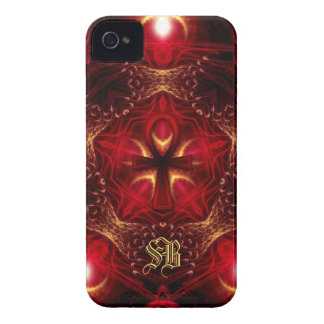 Ankh Energy Red+Gold Monogram iPhone 4 iPhone 4 Case-Mate Case