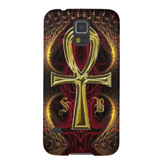 Ankh Gold Goddess Custom Name Initials Case For Galaxy S5