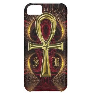 Ankh Gold Goddess Custom Name Initials iPhone 5C Case