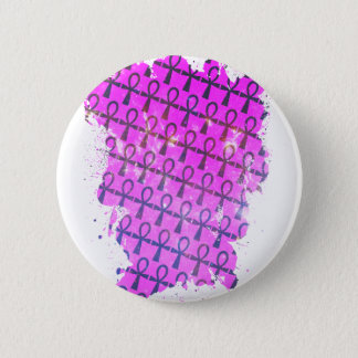 Ankh Pattern Pinback Button