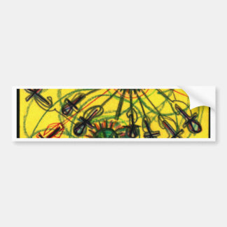 Ankh Rays Imprint Bumper Sticker